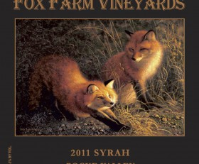 2013 Fox Farm Vineyards Rogue Valley Syrah- SOLD OUT/2014 COMING SOON