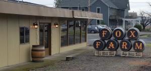 barrel signs facing south