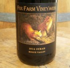 2014 Fox Farm Vineyards Syrah