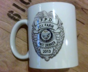 F.F.P.D.* Coffee mug  (*Fox Farm Pinot Drinker)